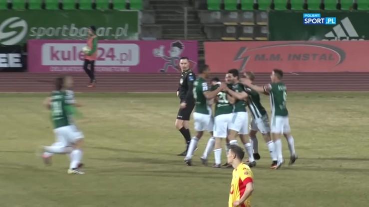 Olimpia Grudziądz - Znicz Pruszków 1:0. Zwycięski gol Łukowskiego
