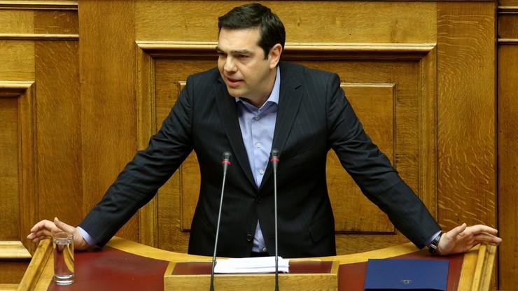 """""""Po raz pierwszy mamy dobre wiadomości"""". Cipras zadowolony z posiedzenia eurogrupy"""