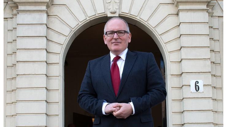 Timmermans nie przyjedzie do Warszawy: ma inne zobowiązania