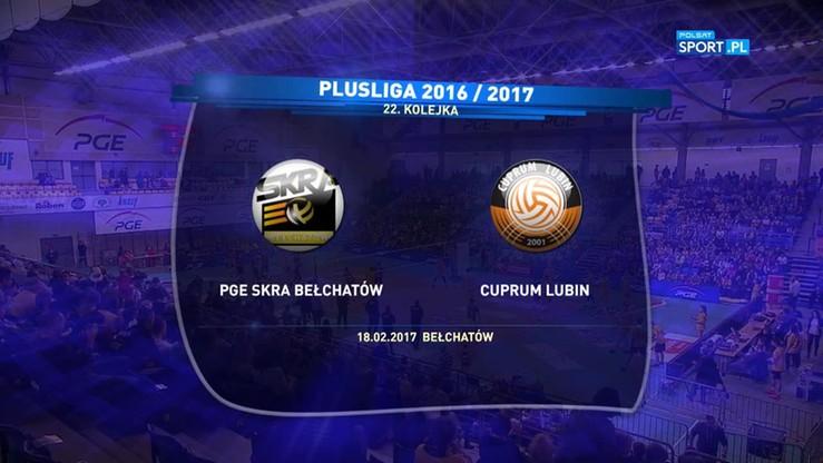 PGE Skra Bełchatów – Cuprum Lubin 3:0. Skrót meczu