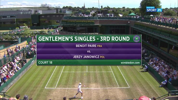 Wimbledon: Janowicz - Paire. Skrót meczu