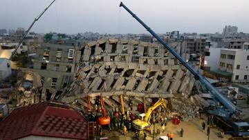 07-02-2016 08:50 Tragiczny bilans trzęsienia ziemi na Tajwanie. Ponad sto osób wciąż pod gruzami