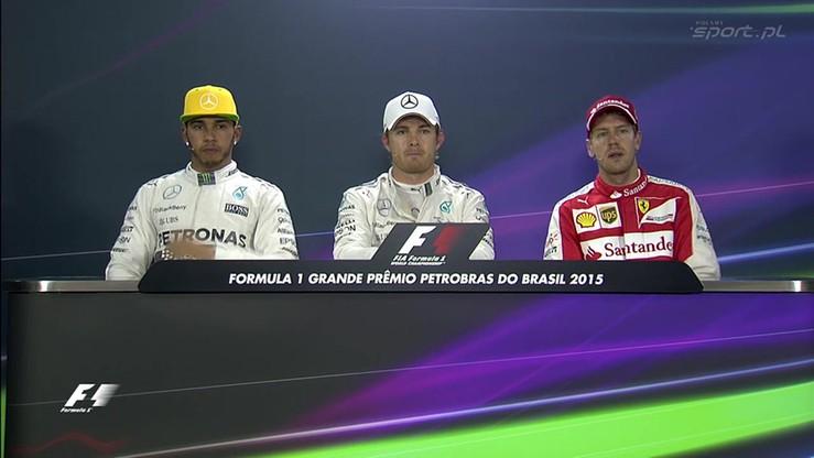 Konferencja po kwalifikacjach do GP Brazylii
