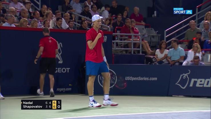 ATP w Montrealu: Shapovalov w pięknym stylu wyeliminował Nadala