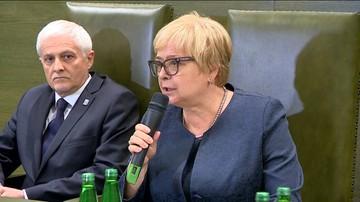 """24-07-2017 15:53 Gersdorf przeprosiła za wypowiedź o """"niewygórowanej pensji 10 tys. zł"""""""