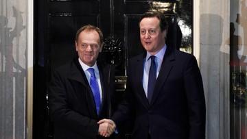 31-01-2016 22:17 Tusk nie osiągnął porozumienia z Cameronem. Rozmowy będą kontynuowane w poniedziałek