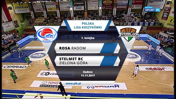 Rosa Radom - Stelmet BC Zielona Góra 72:80. Skrót meczu