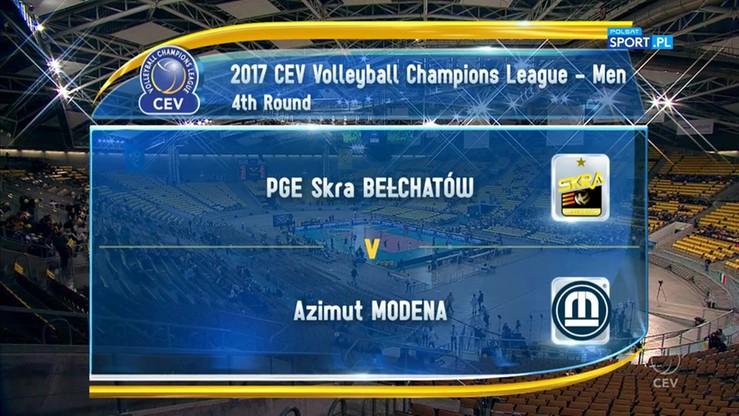 PGE Skra Bełchatów - Azimut Modena 1:3. Skrót meczu