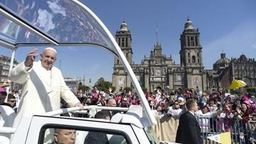 14-02-2016 14:29 Meksyk: tłumy na ulicach witały papieża Franciszka