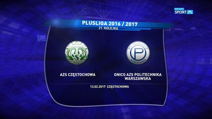 AZS Częstochowa - Onico AZS Politechnika Warszawa 1:3. Skrót meczu