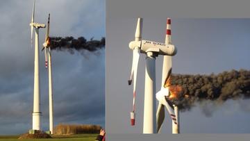 """03-11-2016 12:02 Pożar na farmie wiatrowej. """"Elementy konstrukcji spadały na ziemię"""""""