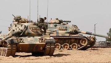 27-08-2016 21:09 Turecki czołg trafiony rakietą w Syrii. Zginął żołnierz