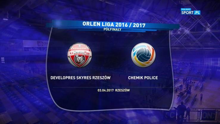 Developres SkyRes Rzeszów – Chemik Police 0:3. Skrót meczu