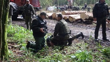 13-09-2017 22:10 Strażnicy leśni wgniatali mu twarz w ziemię. Trafił do szpitala