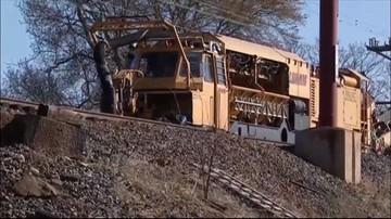 Wypadek kolejowy pod Filadelfią w USA