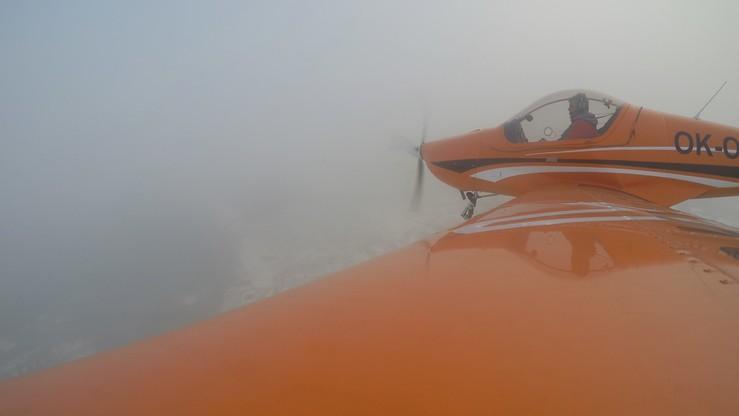 Smog nad Rybnikiem widziany z samolotu