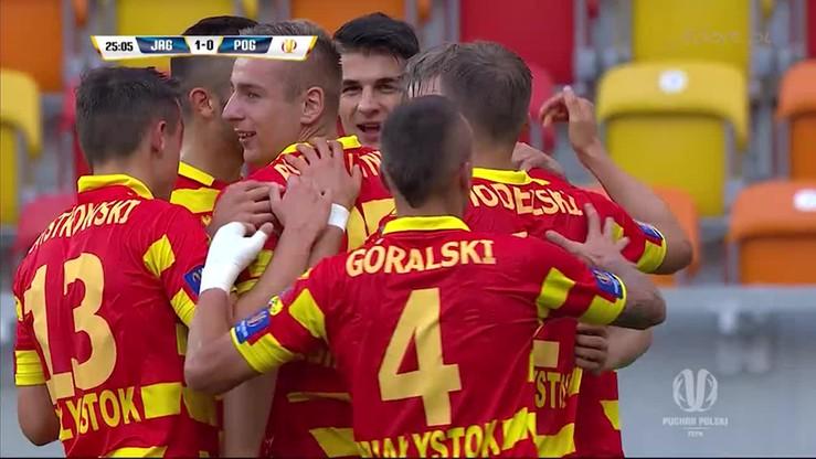 2015-08-12 Puchar Polski: Świderski nie do obrony! Jagiellonia otwiera wynik z Pogonią