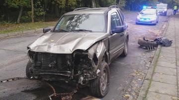 Wypadek samochodu z materiałami wyborczymi Napieralskiego