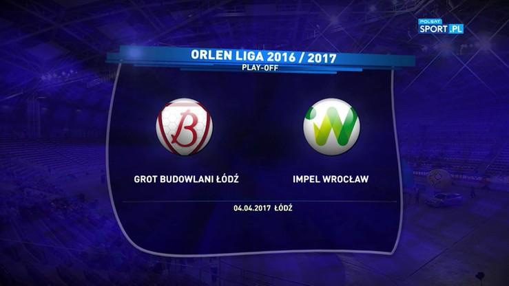 Budowlani Łódź - Impel Wrocław 3:1. Skrót meczu