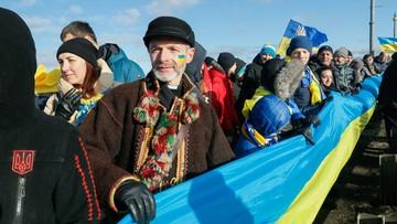 """22-01-2017 12:54 """"Nie zrezygnujemy z Donbasu"""". Prezydent Poroszenko podczas Dnia Jedności Ukrainy"""