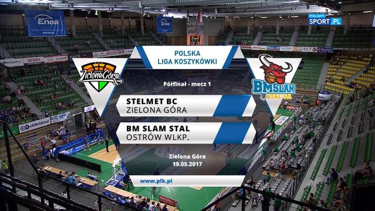 Stelmet BC Zielona Góra - BM Slam Stal Ostrów Wlkp. 94:88. Skrót meczu