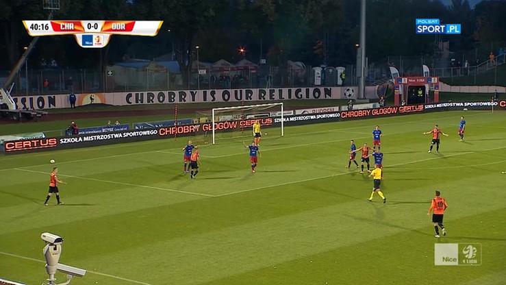 Chrobry Głogów - Odra Opole 2:0. Skrót meczu
