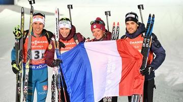 2017-03-12 PŚ w biathlonie: Francja najlepsza w sztafecie mieszanej, Polska dwudziesta