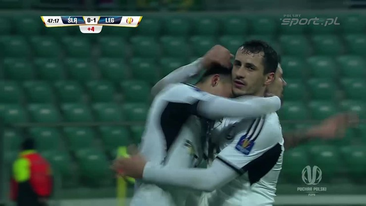Śląsk - Legia 0:1. Michał Żyro