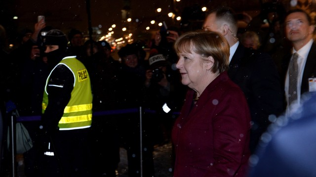 Ein volk ein Reich, ein Kaczyński - nie. Protesty przed spotkaniem Kaczyńskiego i Merkel