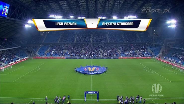 Lech Poznań - Błękitni Stargard 5:1. Skrót meczu