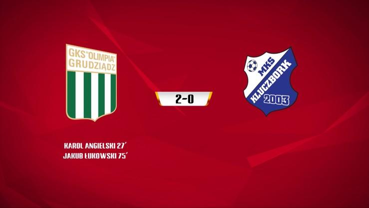 Olimpia Grudziądz - MKS Kluczbork 2:0. Skrót meczu