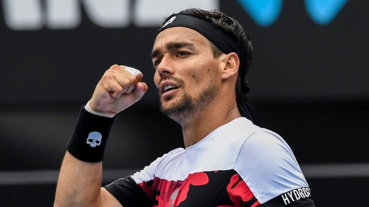 ATP w Sydney: Fognini jedynym rozstawionym w półfinale