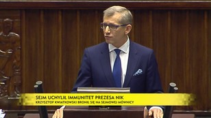 Sejm uchylił immunitet prezesowi NIK