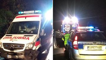 02-10-2016 16:45 Pijany kierowca wjechał w karetkę pogotowia, która przyjechała do wypadku