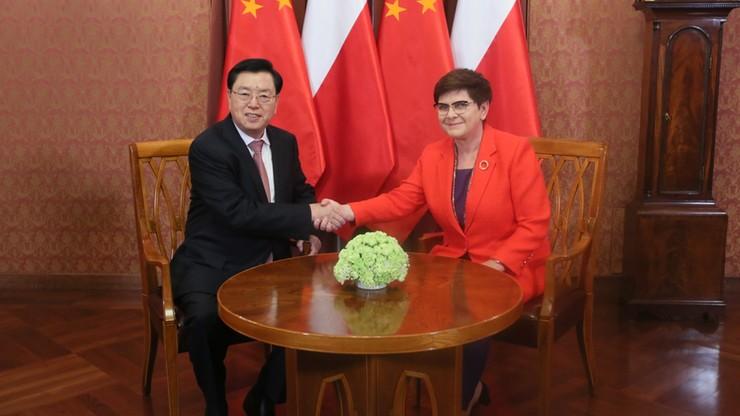 Premier Szydło spotkała się z szefem chińskiego parlamentu