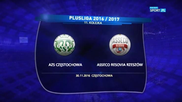 2016-11-30 AZS Częstochowa - Asseco Resovia Rzeszów 0:3. Skrót meczu