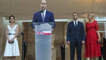 17-07-2017 20:41 Książę William: Polska jest przykładem odwagi, zdecydowania i odporności