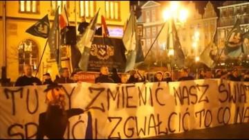 02-12-2015 16:11 Rzecznik Praw Obywatelskich pyta o sprawę spalenia kukły Żyda podczas demonstracji we Wrocławiu