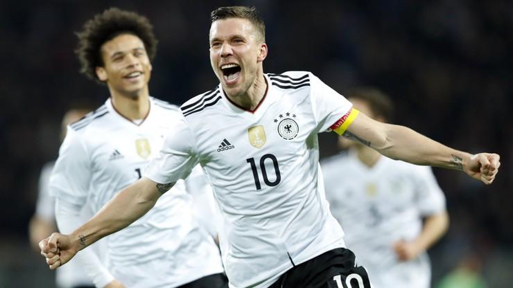 Podolski odpalił rakietę w pożegnalnym meczu! Niemcy lepsze od Anglii