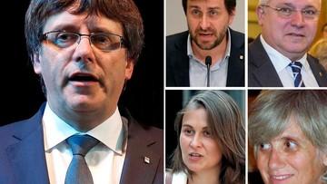 Puigdemont i jego czterej współpracownicy sami zgłosili się na policję