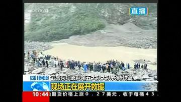 24-06-2017 11:49 Lawina błotna pochłonęła całą chińską wieś. Co najmniej stu zabitych