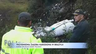 Trzydniowa żałoba narodowa w Brazylii - naród opłakuje śmierć piłkarzy