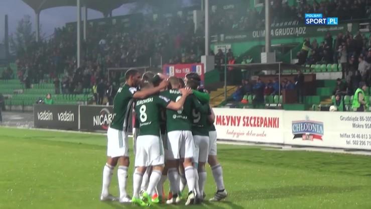 Olimpia Grudziądz - MKS Kluczbork 2:0. Wszystkie bramki