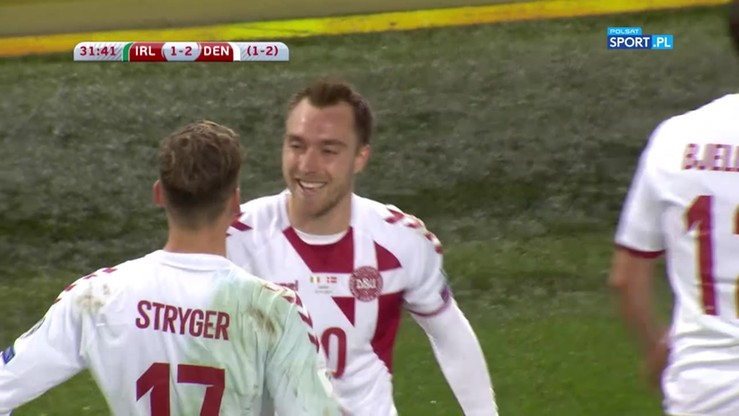2017-11-14 Piłka jak po sznurku i precyzyjny finisz Eriksena! Dania na prowadzeniu w Irlandii