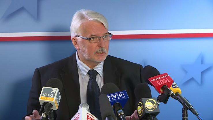 Waszczykowski: mam nadzieję, że KE nie zachowa się histerycznie ws. Polski