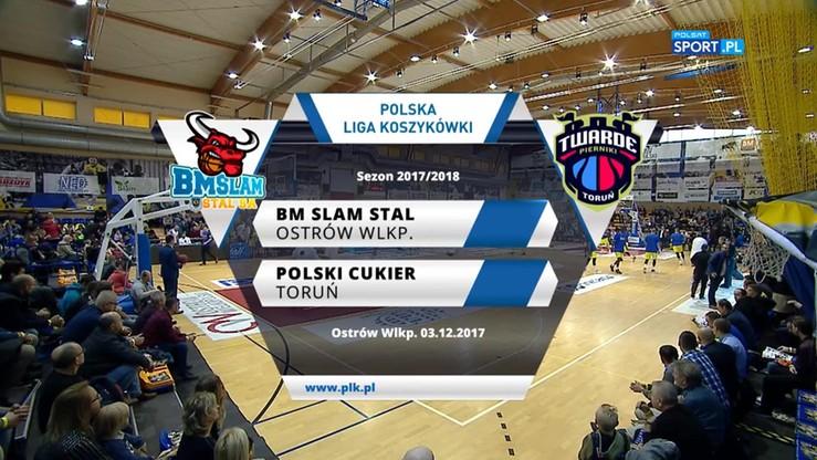 BM Slam Stal Ostrów Wlkp. - Polski Cukier Toruń 76:70. Skrót meczu