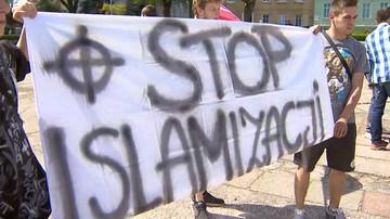 """07-05-2016 18:44 """"Nie dla imigrantów. Precz z Unią Europejską"""". Demonstracja w Słubicach"""