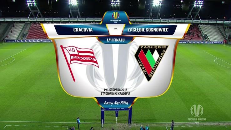 Cracovia - Zagłębie Sosnowiec 0:2. Skrót meczu