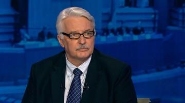 """04-07-2016 21:44 """"Pożyjemy, zobaczymy"""" - Waszczykowski skomentował decyzję PE ws. debaty o Polsce"""