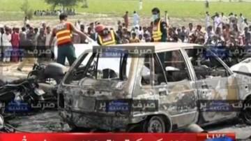 25-06-2017 12:47 Po wypadku cysterny próbowali zbierać wyciekające paliwo. Ponad 140 zabitych wskutek eksplozji